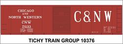 #10376-6S CNW 40' STEEL BOXCAR DECAL 6 SETS