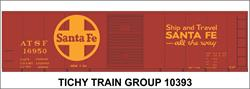 #10393-6S ATSF 40' STEEL BOXCAR DECAL 6 SETS