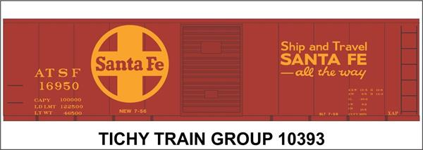 #10393S ATSF 40' STEEL BOXCAR DECAL
