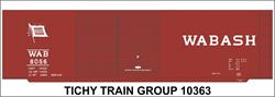 #10363-6 WABASH 40' STEEL BOXCAR DECAL 6 SETS