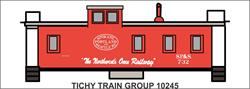 #10245-6O SP&S WOOD CABOOSE DECAL 6 SETS