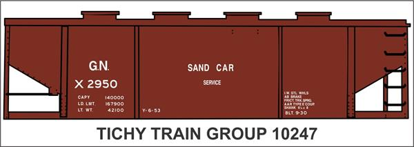 #10247 GN MW SAND HOPPER DECAL