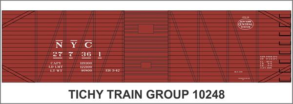 #10248S NYC 40' USRA SS BOXCAR DECAL