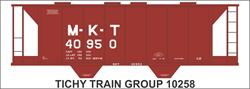 #10258-6N MKT 1946 STEEL COVERED HOPPER DECAL 6 SETS