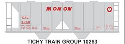 #10263-6S MONON COVERED HOPPER DECAL 6 SETS