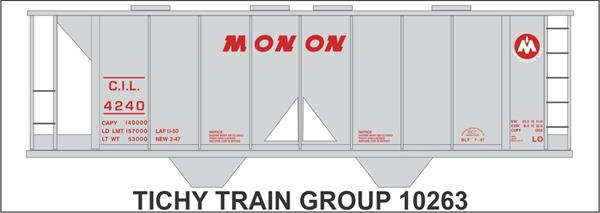 #10263S MONON COVERED HOPPER DECAL