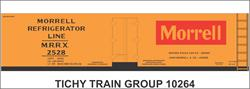 #10264-6O MORRELL 40' WOOD REEFER DECAL 6 SETS
