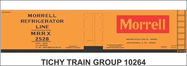 #10264-6 MORRELL 40' WOOD REEFER DECAL 6 SETS
