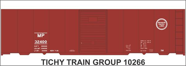 #10266-6S MP 40' STEEL BOXCAR DECAL 6 SETS