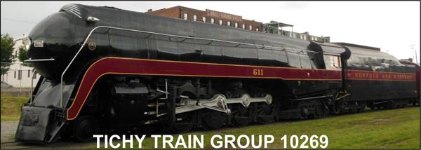 #10269 N&W #611 STEAM ENGINE DECAL