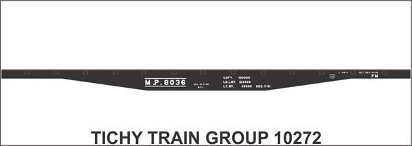 #10272S MP 45' STEEL FLATCAR DECAL