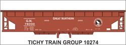 #10274 GN BALLAST HOPPER DECAL