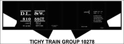 #10278-6S DL&W USRA HOPPER DECAL 6 SETS