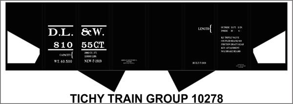 #10278S DL&W USRA HOPPER DECAL