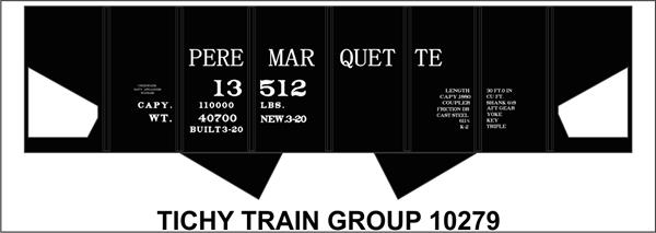 #10279-6S PERE MARQUETTE USRA HOPPER DECAL 6 SETS
