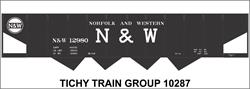 #10287 N&W 4 BAY STEEL HOPPER DECAL