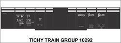"#10292-6S NICKEL PLATE 41'6"" STEEL GONDOLA DECAL 6 SETS"