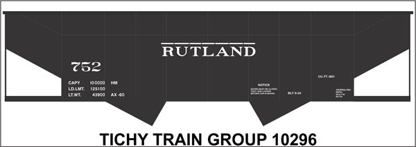 #10296S RUTLAND 2 BAY STEEL HOPPER DECAL