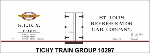 #10297-6 SLRX 40' WOOD REEFER DECAL 6 SETS