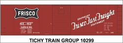 #10299-6S SL-SF FRISCO FAST FREIGHT BOXCAR DECAL 6 SETS