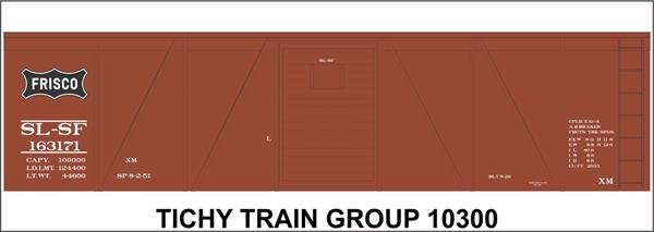 #10300S SL-SF 40' SS BOXCAR DECAL
