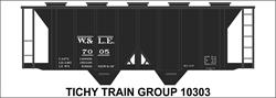 #10303-6S W&LE COVERED HOPPER DECAL 6 SETS