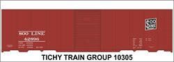 #10305-6N SOO LINE 40' STEEL BOXCAR DECAL 6 SETS