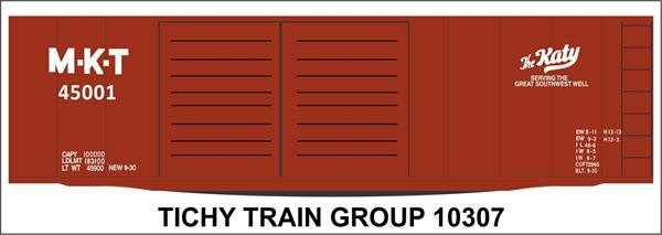 #10307-6S MKT 40' STEEL BOXCAR DECAL 6 SETS