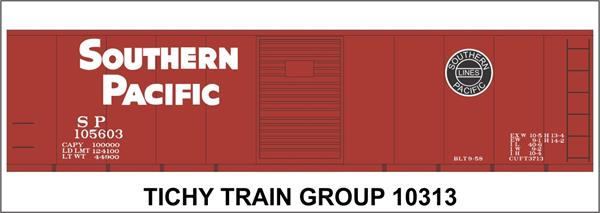 #10313S SP 1944 50' STEEL BOXCAR DECAL