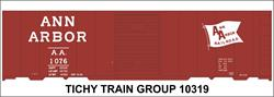 #10319-6O ANN ARBOR 1953 40' STEEL BOXCAR DECAL 6 SETS