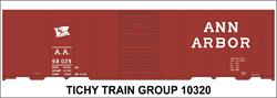 #10320-6O ANN ARBOR 1947 40' STEEL BOXCAR DECAL 6 SETS