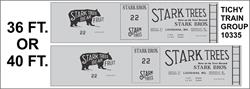 #10335-6 STARK BROS 36/40' SS BOXCAR DECAL 6 SETS