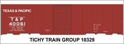 #10329-6S T&P 40' STEEL BOXCAR DECAL 6 SETS