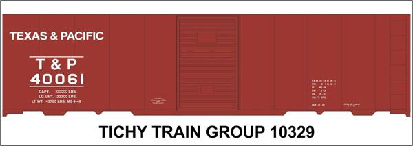 #10329S T&P 40' STEEL BOXCAR DECAL