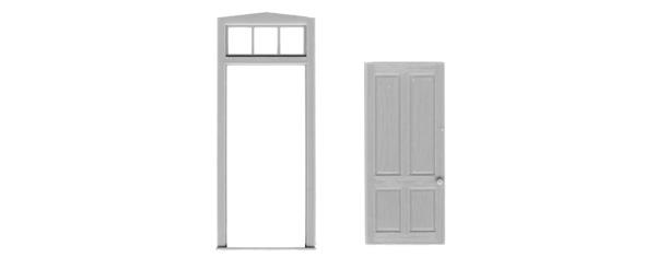 #2031 4 PANEL DOOR/FRAME/TRANSOM