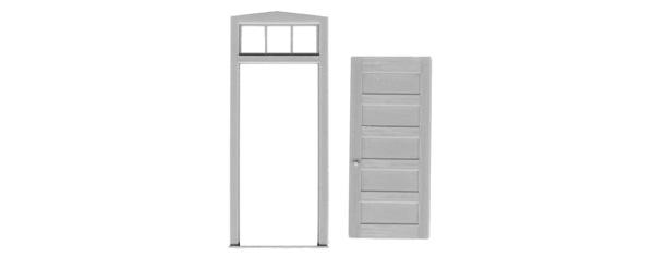 5 PANEL DOOR/FRAME/TRANSOM 2032