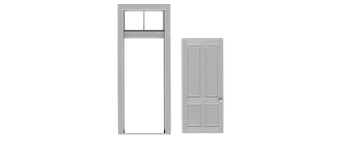 sc 1 st  Tichy Train Group & 4 PANEL DOOR/FRAME/TRANSOM pezcame.com