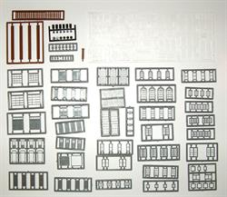 #2540 WINDOW, DOOR & PARTS ASSORTMENT N SCALE