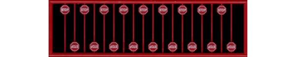 #2612 RED STOP SIGN