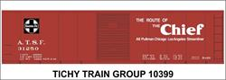 #10399-6S ATSF 40' STEEL BOXCAR DECAL 6 SETS