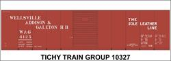 #10327 WAG 40' STEEL BOXCAR DECAL