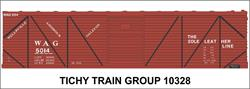 #10328 WAG 40' SS BOXCAR DECAL