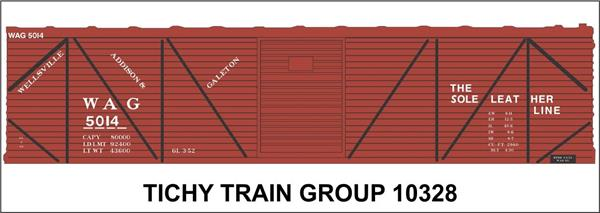 #10328S WAG 40' SS BOXCAR DECAL