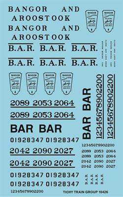 #10426-6S BAR ROADNAME SET BLACK 6 SETS