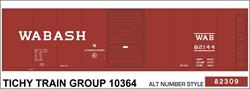 #10364-6 WABASH 40' STEEL BOXCAR DECAL 6 SETS