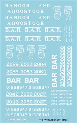 #10425-6S BAR ROADNAME SET WHITE 6 SETS