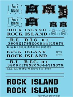 #10424-6N ROCK ISLAND ROADNAME SET BLACK 6 SETS