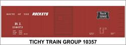 #10357-6N RI 40' STEEL BOXCAR DECAL 6 SETS