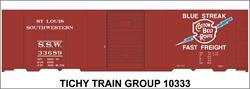 #10333-6N SSW COTTON BELT 40' STEEL BOXCAR DECAL 6 SETS