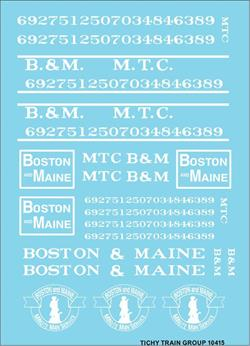 #10415-6N B&M / MTC ROADNAME SET WHITE 6 SETS